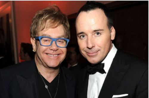 "Elton John and David Furnish; a ""married"" couple"